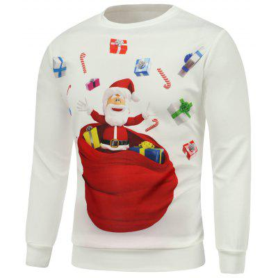 Christmas Santa Gift Printed Long Sleeve Sweatshirt