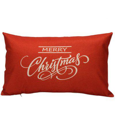 Merry Christmas Bed Sofa Backrest Throw Pillow Cover $4 64 line