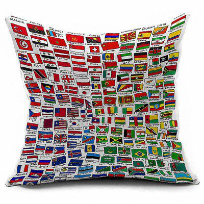 National Flag Printed Linen Home Decor Pillowcase
