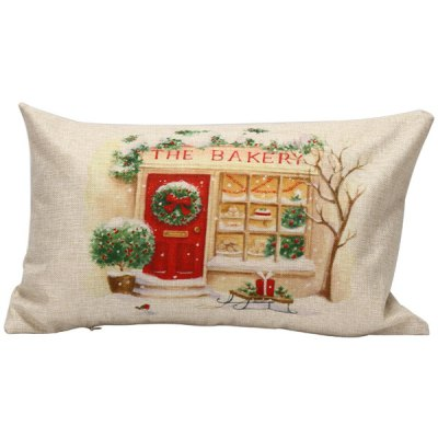 Christmas Bakery Pattern Rectangle Pillow Case