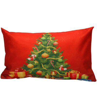 Christmas Home Decoration Xmas Tree Rectangle Pillow Cover