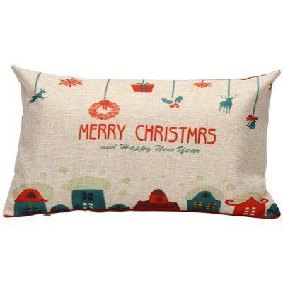 Christmas Decor Sleeping Bed Throw Pillow Cover