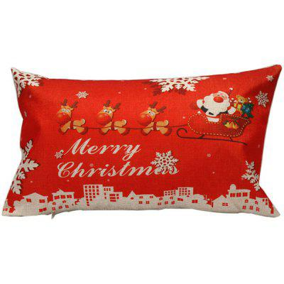 Merry Christmas Bed Linen Throw Rectangle Pillow Cover