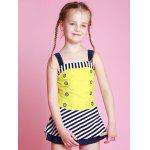 Buy Girls Striped One Piece Swimsuit 110 YELLOW
