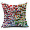 National Flag Printed Linen Home Decor Pillowcase - COLORFUL