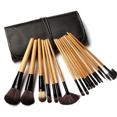 18 Pcs Fiber Facial Makeup Brushes Kit