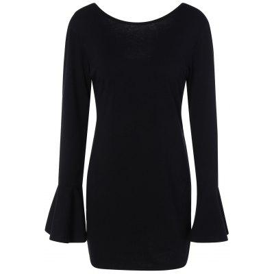 Buy Flare Sleeve Bodycon Dress, BLACK, M, Apparel, Women's Clothing, Women's Dresses, Bodycon Dresses for $16.44 in GearBest store
