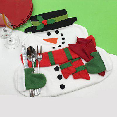 Home Decor Christmas Cloth Pad Snowman Double Table Mat
