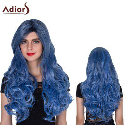 Adiors Long Colormix Side Bang Shaggy Wavy Film Character Synthetic Wig