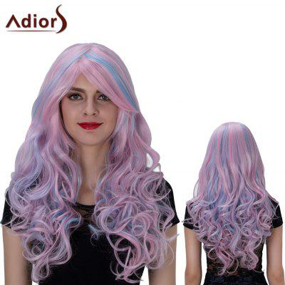 Adiors Long Colormix Side Bang Layered Wavy Film Character Synthetic Wig