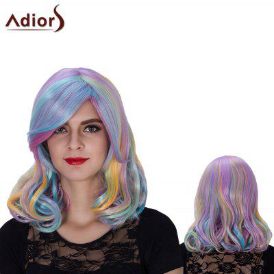 Adiors Medium Colormix Side Bang Wavy Film Character Synthetic Wig