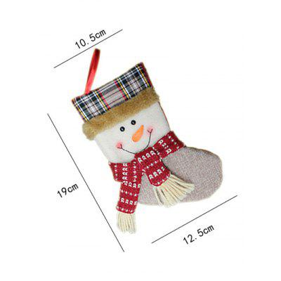 Фото Christmas Tree Hanging Decoration Snowman Present Stocking Sock. Купить в РФ