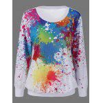Splatter Paint Kangaroo Pocket Sweatshirt
