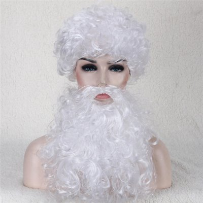Santa Claus Cosplay Christmas Party Synthetic Wig