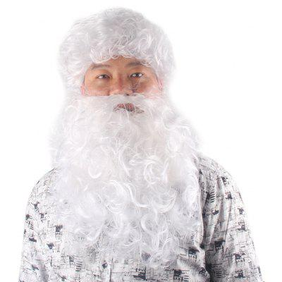 Santa Claus Cosplay Fluffy Curly Christmas Party Synthetic Wig