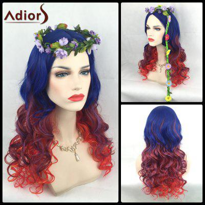 Adiors Long Colormix Side Parting Wavy Christmas Party Synthetic Wig