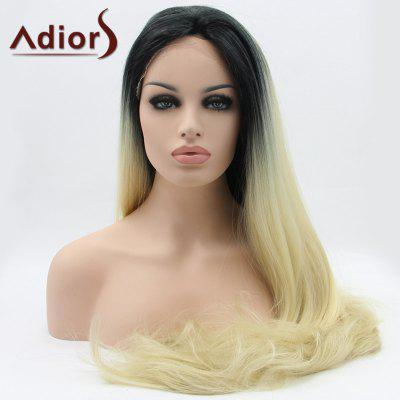 Long Straight Slightly Curled Lace Front Synthetic Wig