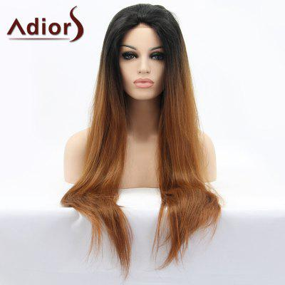 Adiors Hair Color Mixed Long Straight Lace Front Synthetic Wig
