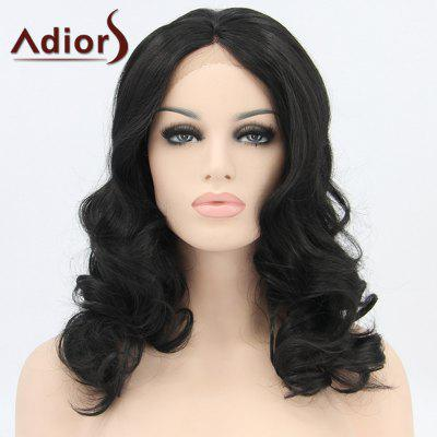 Medium Wavy Lace Front Synthetic Wig