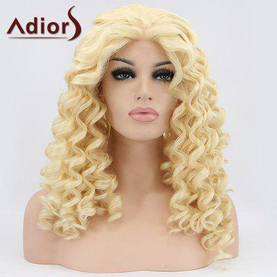 Medium Curly Lace Front Synthetic Wig