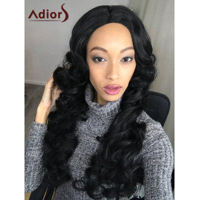 Long Adiors Fluffy Wavy Middle Parting Synthetic Wig