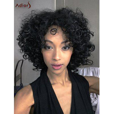 Adiors Medium Afro Curly Side Bang Synthetic Wig