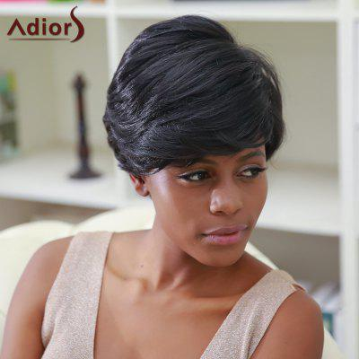 Buy BLACK Adiors Hair Short Side Bang Fluffy Straight Capless Synthetic Wig for $13.03 in GearBest store