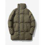 Turndown Collar Zip Up Puffer Coat deal