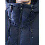 Zipper Design Hooded Puffer Jacket for sale