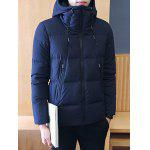 Zipper Design Hooded Puffer Jacket deal