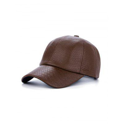 PU Leather Crocodile Snapback Baseball Hat