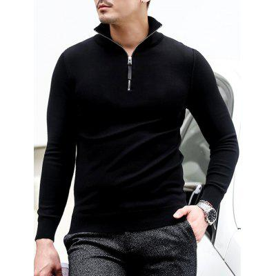 Slim Fit Half Zip Polo Sweater