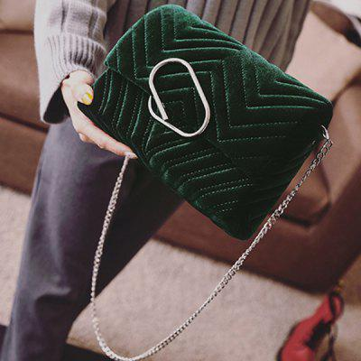 Stitching Clip Covered Closure Crossbody Bag