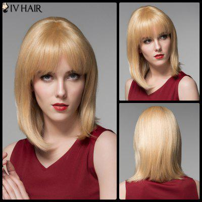 Siv Hair Exquisite Medium Side Bang Straight Real cabelo natural peruca
