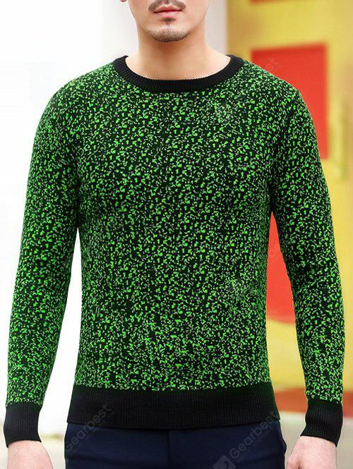 Slim Fit ras du cou Espace Dyed Sweater