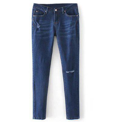 Low Rise Destroyed Jeans sigaretta