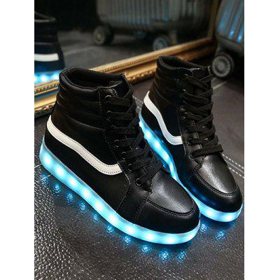 Stylish Led Luminous and High Top Design Sneakers For Women