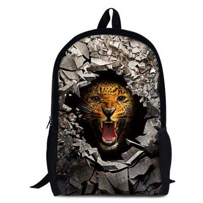 Buy LEOPARD 3D Rubble Animal Print Backpack for $26.15 in GearBest store