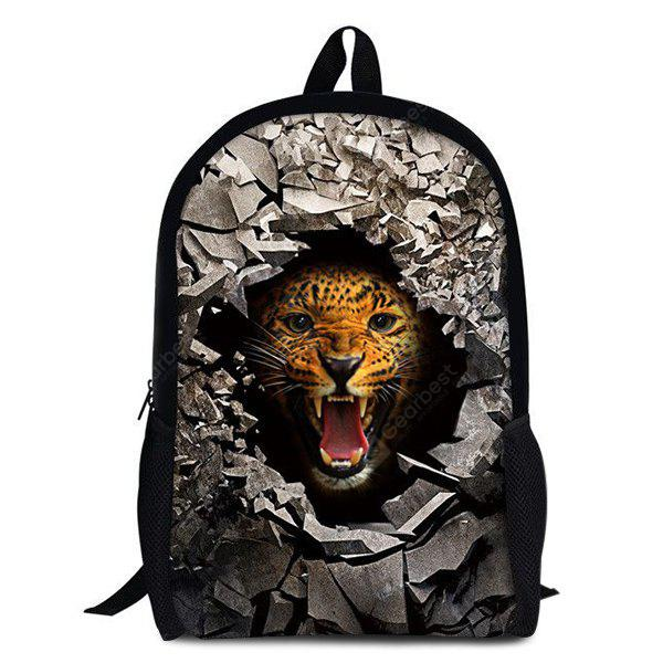 LEOPARD 3D Rubble Animal Print Backpack