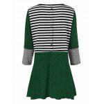 Plus Size Striped Tunic T-Shirt - YEşIL