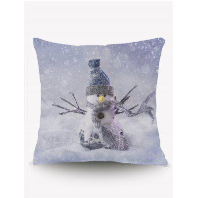 Christmas Snowman Cushion Throw Pillow Case
