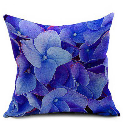 Floral Printed Linen Home Decor Throw Pillow Case