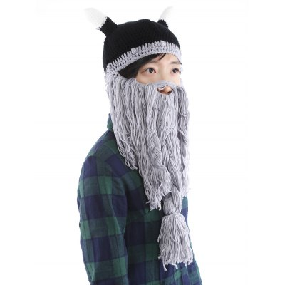 Фото Beard Braid Tassel Embellished Animal Head Hat. Купить в РФ