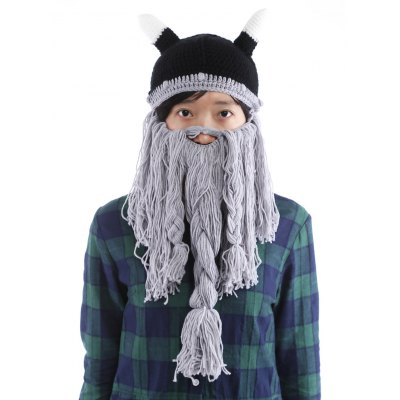 Beard Braid Tassel Embellished Animal Head HatMens Hats<br>Beard Braid Tassel Embellished Animal Head Hat<br><br>Circumference (CM): 57CM<br>Gender: For Men<br>Group: Adult<br>Hat Type: Skullies Beanie<br>Material: Acrylic<br>Package Contents: 1 x Hat<br>Pattern Type: Others<br>Style: Fashion<br>Weight: 0.270kg