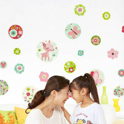 DIY Art Floral Removable Background Wall Stickers