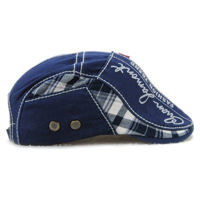 Sewing Thread Tartan Newsboy Cap with EmbroideryMens Hats<br>Sewing Thread Tartan Newsboy Cap with Embroidery<br><br>Circumference (CM): 57CM<br>Gender: For Men<br>Group: Adult<br>Hat Type: Newsboy Caps<br>Material: Polyester<br>Package Contents: 1 x Hat<br>Pattern Type: Letter<br>Style: Fashion<br>Weight: 0.200kg