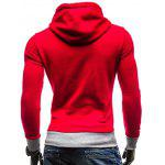 cheap Side Pocket Eyelet Drawstring Graphic Hoodie