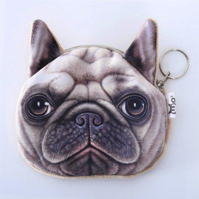 Buy BEIGE Dog Pattern Colour Splicing Zip Coin Purse for $7.36 in GearBest store