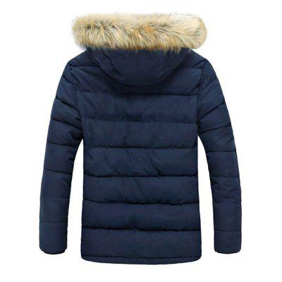 Button Pocket Zip Up Faux Fur Hooded Quilted CoatMens Jackets &amp; Coats<br>Button Pocket Zip Up Faux Fur Hooded Quilted Coat<br><br>Clothes Type: Padded<br>Collar: Hooded<br>Material: Polyester<br>Package Contents: 1 x Coat<br>Season: Winter<br>Shirt Length: Long<br>Sleeve Length: Long Sleeves<br>Style: Fashion<br>Weight: 1.130kg