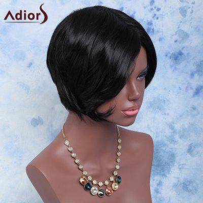 Towheaded Short Side Bang Straight Synthetic Wig
